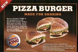 Burger King - Pizza Burger - برجر كنج