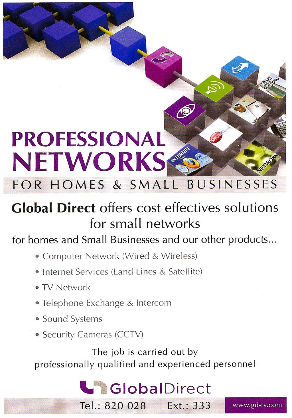 Global Direct Professional Networks - شبكات جلوبال دايركت التخصصية