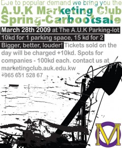 Car Boot Sale (AUK Marketing Club)